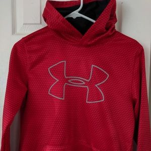 Like New red Under armour hoodie youth size L